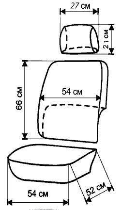 Как сшить чехлы для машины выкройка 356